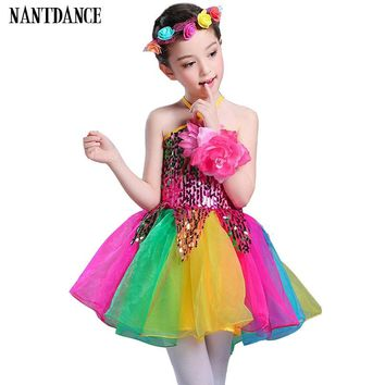 Girls Ballet Dress For Children Girl Dance Clothing Kids Sequins Ballet Costumes For Girls Tutu Dance Girl Stage Dancewear