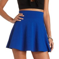 AZTEC TEXTURED HIGH-WAISTED SKATER SKIRT