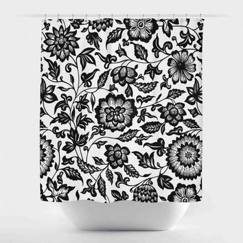 Best Black Flower Shower Curtain Products On Wanelo