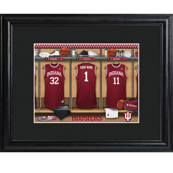 Personalized College Basketball Locker Room Sign - Indiana