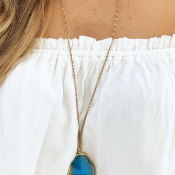 Treasured Piece Necklace: Blue/Gold