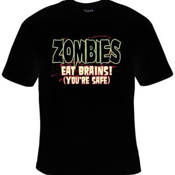 TSHIRTS: zombie eat brains-killing shirt  gift Cool Funny Humor Shirts  Tee Rude Tees Offensive T-Shirts Offensive t-shirts present gifts