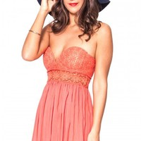 Dream a Dream dress in coral  | Show Pony Fashion online shopping