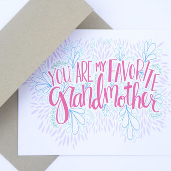 Favorite Grandmother - Mothers Day Card