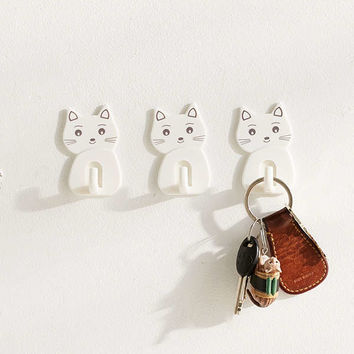 Adhesive Kitty Hook Set | Urban Outfitters