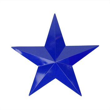 "24"" Blue Country Rustic Star Indoor/Outdoor Wall Decoration"