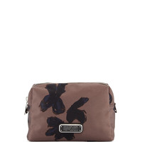 Painted Flower Cosmetics Bag, Faded Aluminum - MARC by Marc Jacobs