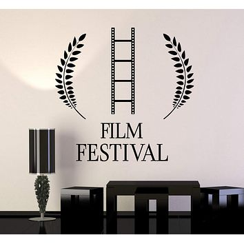 Vinyl Wall Decal Film Festival Cinema Movie Stickers Mural Unique Gift (153ig)