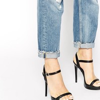 River Island Black Barely There Heeled Sandals