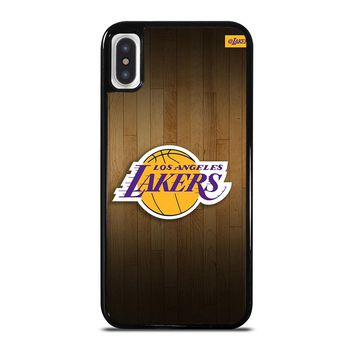 LA LAKERS BASKETBALL WOODEN iPhone X Case