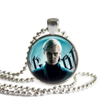 Draco Malfoy Necklace Silver Plated Harry Potter Picture Pendant