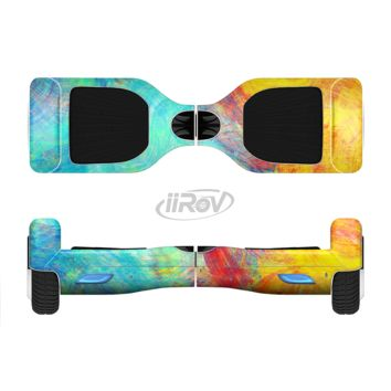 The Vibrant Colored Messy Painted Canvas Full Body Skin Set for the Smart Drifting SuperCharged Transportation iiRov