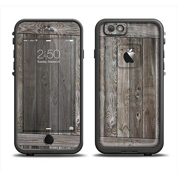The Wooden Wall-Panel Apple iPhone 6 LifeProof Fre Case Skin Set
