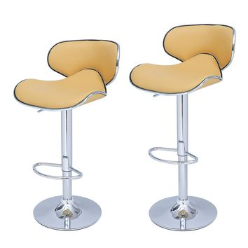 Bareneed Warm Yellow Modern Bar Stools (Set of two)