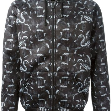 Marcelo Burlon County Of Milan snake print hooded jacket