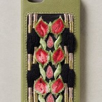 Embroidered Petals iPhone 5 Case by Jasper & Jeera Green One Size Jewelry