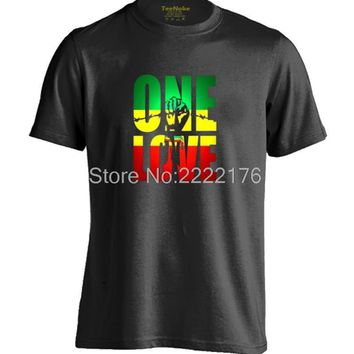 Bob Marley One Love Jamaica Reggae Mens & Womens Design T Shirt