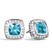 7mm Blue Topaz Petite Albion Earrings - David Yurman - Blue topaz (7mm)