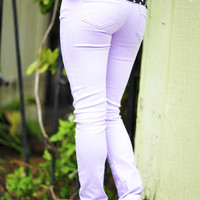 What A Girl Wants Pants: Lavender   Hope's