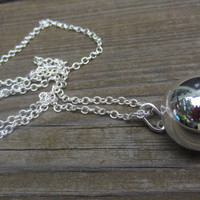 Harmony Ball Necklace, Bola Necklace, Pregnancy Necklace, Long Silver Necklace