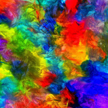 Wall Art - No. 146A - Giclee Print - Oil Pastels - Multi Colored - Original Art - Abstract - One Only