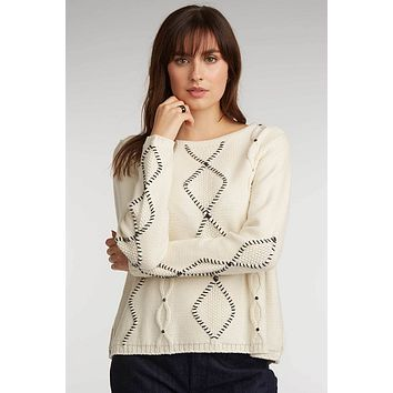 Cable Sweater with Studs