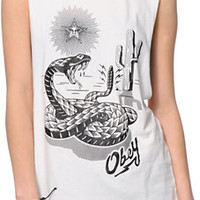 Obey Desert Snake Moto Cut-Off Tank Top