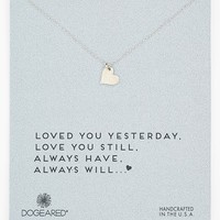 Women's Dogeared 'Love - Sparkle Heart' Boxed Pendant Necklace