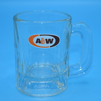 A & W Shot Glass Vintage Mini AW Root Beer Heavy Glass Mug Retro Barware Advertising Memoriabilia Gift for Him Fathers Day Gift Groom