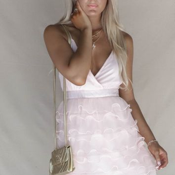 Lydia Pink Ruffle Dress