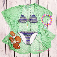 Still Waters Mint Tribal Bikini