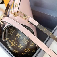 LV lady Painted leather leather bag shoulder bag