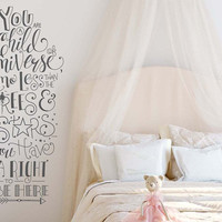 Wall Decal Quote - Child of the Universe Wall Quote, Kids Room Decor, Nursery Decals, Inspirational Wall Decal