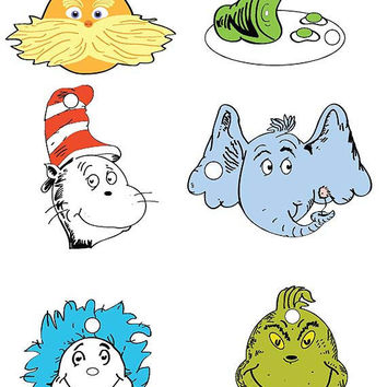 Dr Seuss Character Gift Tag Set - PDF File