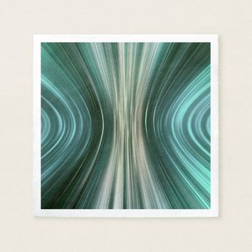 Glacier Green Driving Dreams Paper Napkins
