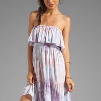 Tiare Hawaii Frill Short Dress in Mauve Grey Smoke from REVOLVEclothing.com
