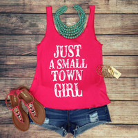 SMALL TOWN GIRL TANK TOP IN HOT PINK – LaRue Chic Boutique