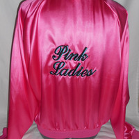 New childs medium 1950's grease pink ladies jacket costume costumes 7-10 years