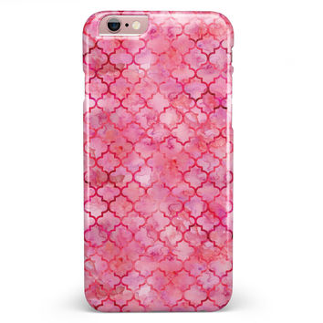 Pink Watercolor Quatrefoil iPhone 6/6s or 6/6s Plus INK-Fuzed Case