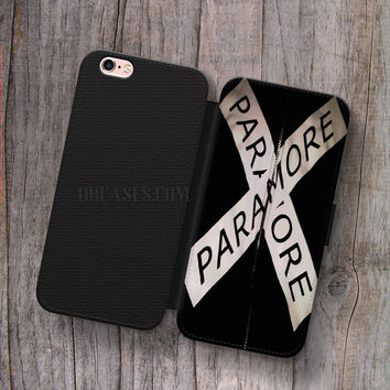 Wallet Leather Case for iPhone 4s 5s 5C SE 6S Plus Case, Samsung S3 S4 S5 S6 S7 Edge Note 3 4 5 Paramore Cases
