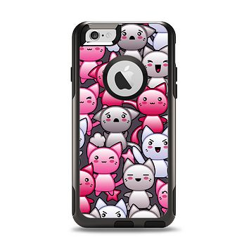 The Cute Abstract Kittens Apple iPhone 6 Otterbox Commuter Case Skin Set