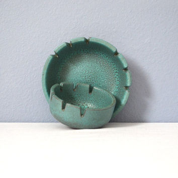 Heath Ceramics Rare Experimental Turquoise Glaze Ashtray