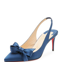 Christian Louboutin Yasling Bow Slingback Red Sole Pump