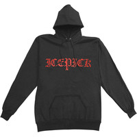 Icepick Men's  Gothic Hooded Sweatshirt Black Rockabilia