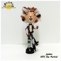 Jemima - CATS the musical peg doll by FaBi DaBi Dolls