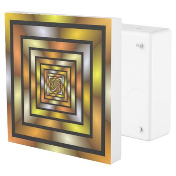 Luminous Tunnel Colorful Graphic Fractal Pattern Outlet Cover