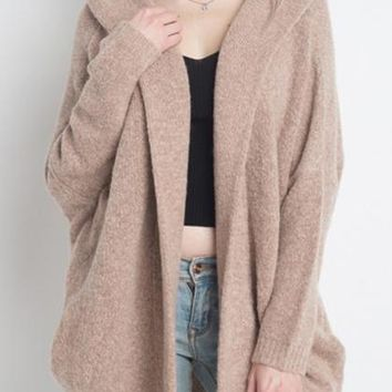 Chill Out Hooded Cardigan - Dusty Pink