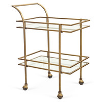 Genevive Bar Cart, Gold