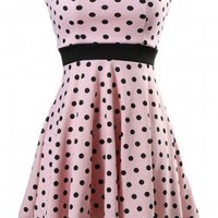 2013 Summer Polka Dot Strapless Dress - 29 and Under
