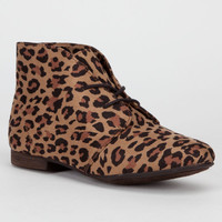 Breckelle's Sandy Womens Boots Leopard  In Sizes